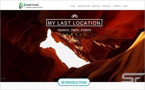 Onetake - A Free One Page WordPress Full Screen Theme | Free & Premium WordPress Themes | Scoop.it