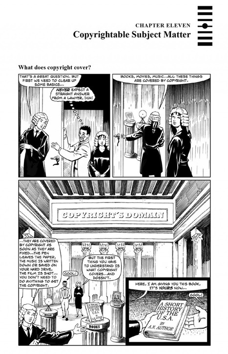 Copyright Law comic from Open IP casebook - Visual Law Library | Library Collaboration | Scoop.it