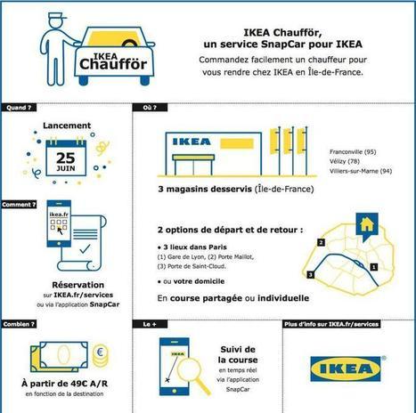 Ikea lance avec SnapCar un service de chauffeur en région parisienne - Le Figaro   Ameublement   Scoop.it