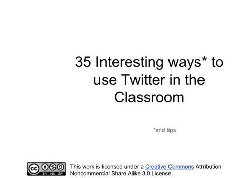35 Interesting Ways to use Twitter in the Classroom | Flipping | Scoop.it