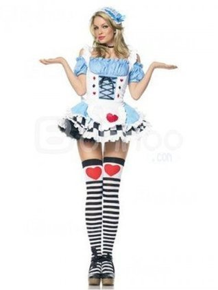 Alice in Wonderland Cosplay Miss Wonderland Sexy Adult Costume [4012013] - $56.00 : Shopping Cheap Dresses,Costumes,Quality products from China Best Online Wholesale Store | Alice in the country of hearts cosplay costumes | Scoop.it