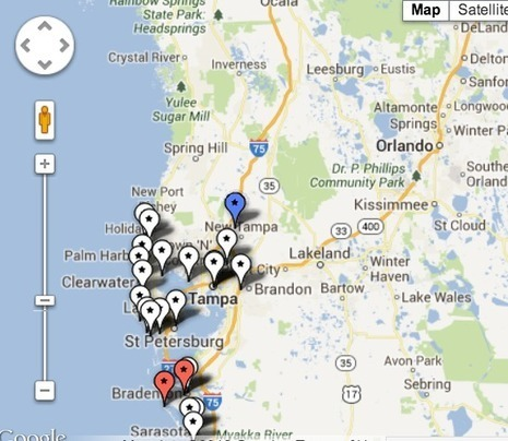 Fourth of July Fireworks Map for Palm Harbor, Tampa Bay - Patch.com | Palm Harbor | Scoop.it