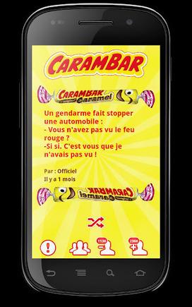 Faîtes survivre les blagues Carambar grâce à Android ! - Smartphone France Android Edition | Applications Iphone, Ipad, Android et avec un zeste de news | Scoop.it