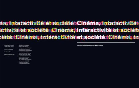 """Livre """"Cinéma, interactivité et société"""" - Coordonné par Jean-Marie Dallet (2008)"""