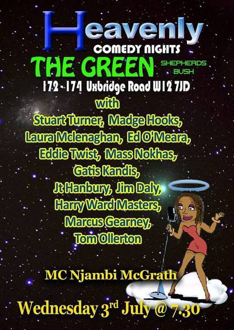 The Laughter begins at the heavenly comedy with MC Njambi McGrath - 3rd July 2013 | ComedyEvents | Scoop.it