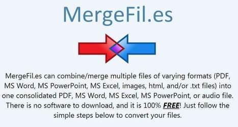 Combiner plusieurs formats de fichiers en un document, MergeFil | netnavig | Scoop.it