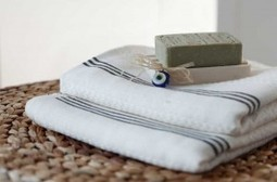 Lightweight, Quick dry Bamboo Bath and Spa Towels - Lacy Bamboo Peshtemal Cotton and Olive   Turkish Peshtemal Towels   Scoop.it