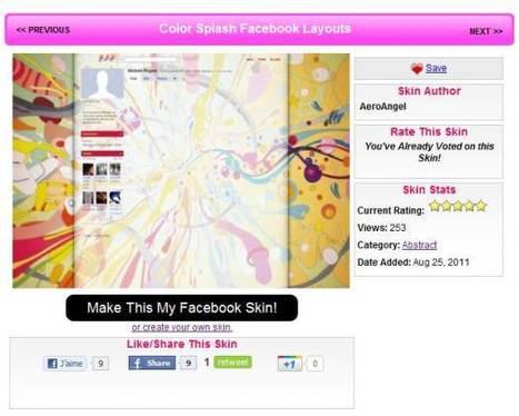 Modifier l'apparence de Facebook avec des thèmes graphiques, FB Skins | lilmayou | Scoop.it