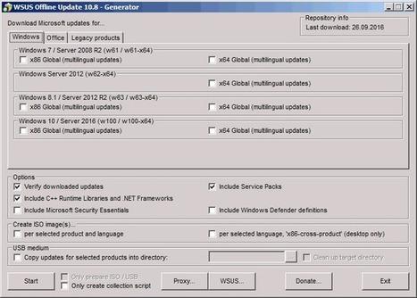 WSUS Offline Update: faire vos mises à jour sans connexion internet | Nalaweb | Scoop.it