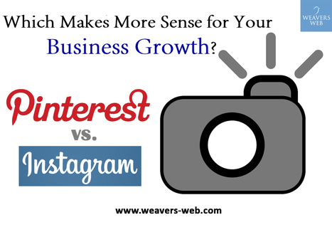 Pinterest or Instagram: Which Makes More Sense for Your Business Growth?   Web Design, Development and Digital Marketing   Scoop.it