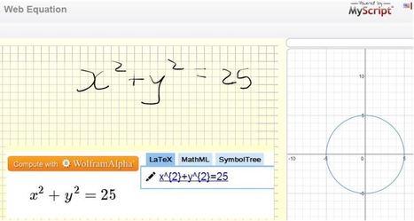 Desmos, WolframAlpha & handwriting recognition! | Maths Rocks! | Scoop.it