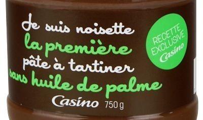 Casino lance 'Je suis noisette' une pâte à tartiner sans huile de palme | Communication Agroalimentaire | Scoop.it