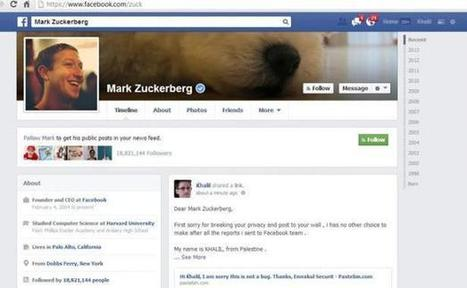 La page Facebook de Mark Zuckerberg a été piratée | High Tech Infos | Scoop.it