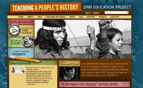 Teaching A People's History - Free lessons & Resources for K12 | Prendi eLearning Literacy & Humanities Technology | Scoop.it