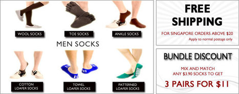 Citrusox -Buy Online Men Socks | Ankle Socks | Toe Socks in Singapore | citrusox | Scoop.it