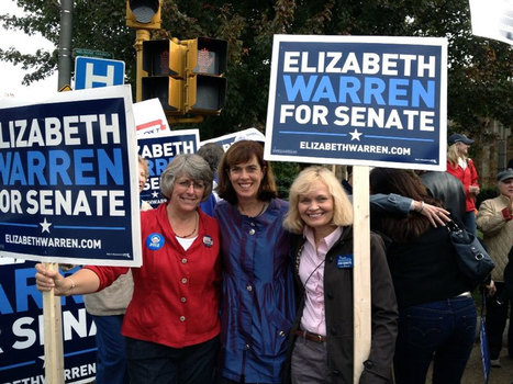 photo: Stoneham Dems Wendy and Maureen with @SenKClark in #Melrose supporting @ElizabethforMA | Massachusetts Senate Race 2012 | Scoop.it