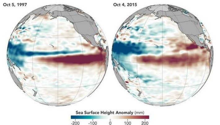 Leftover warm water in Pacific Ocean fueled massive El Niño | Océan et climat, un équilibre nécessaire | Scoop.it