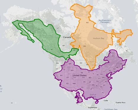 The true size of ... | Geography Education | Scoop.it