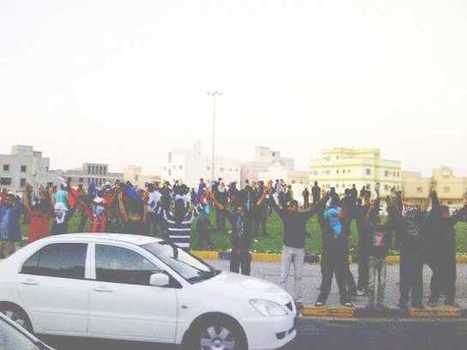 Human-Chain at Al-Khawaja Roundabout  around Nabeel and Zainab! | Human Rights and the Will to be free | Scoop.it