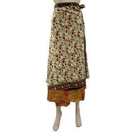 moguinterior Womens Skirt Two Layer Floral Printed Sari Wrapskirts Sarong Dress - Clothing - Women's - Skirts | Bohemian Harem Pant | Scoop.it
