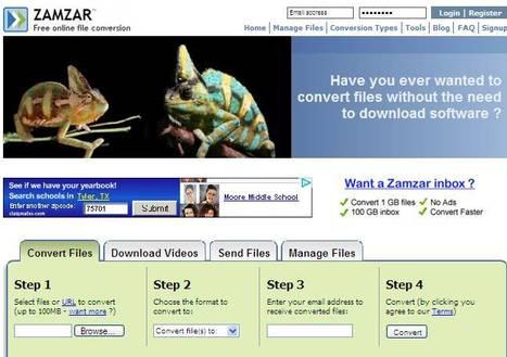 Zamzar - Free Online File Conversion | 5th Grade | Scoop.it
