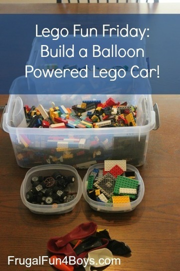 Lego Fun Friday: Balloon Powered Car Building Challenge - Frugal Fun For Boys | HCS Learning Commons Newsletter | Scoop.it