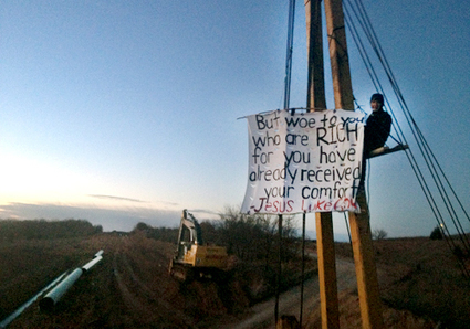 BREAKING: Lifelong Oklahoman Youth Pastor Locked to Machinery in Protest of Keystone XL | EcoWatch | Scoop.it