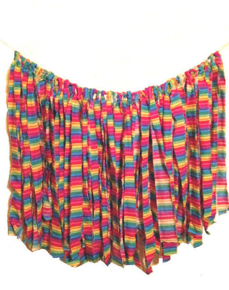 Rainbow Garland Fabric Banner Rag Tie Garland torn fabric rustic Wedding backdrop photo prop | Wedding Photography | Scoop.it