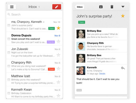 Gmail for iPad, iPhone and iPod touch hits version 2.0: all new look ... | iPads in Education Daily | Scoop.it