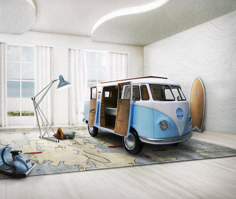 Quirky Kid's Bed Modeled After a VW Bus Captures the Fun of the Iconic Vehicle | Le It e Amo ✪ | Scoop.it