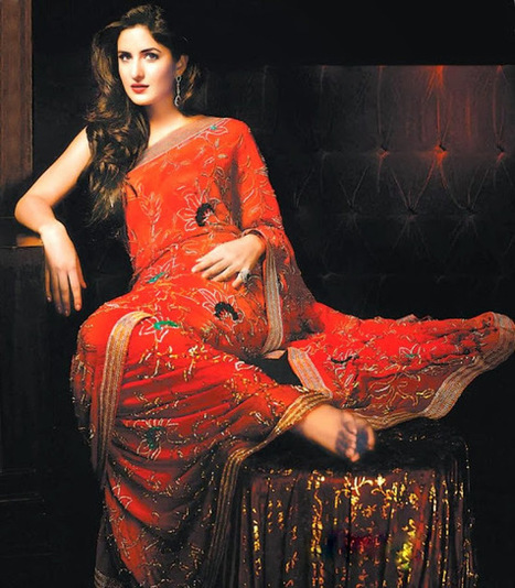 Katrina Kaif in Red Sarees, Pictures of Katrina in Indian Sarees | CHICS & FASHION | Scoop.it