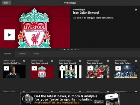 'NBC Sports Live Extra' app to stream all English Premier League ...   Sports   Scoop.it
