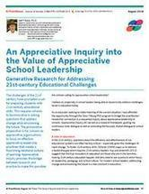 An Appreciative Inquiry into the Value of Appreciative School Leadership | Art of Hosting | Scoop.it