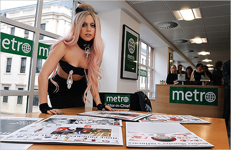 Lady Gaga saves journalism, becomes guest editor-in-chief of Metro for a day - Entertainment Weekly   Innovations in journalism   Scoop.it
