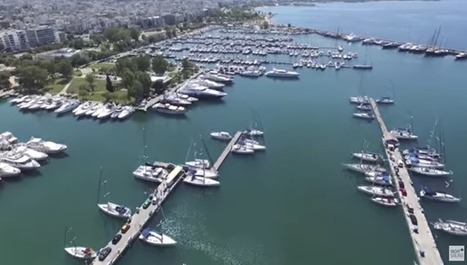 Alimos marina while flying right above our sailing yachts | Tsialemis Suggested Posts | Scoop.it