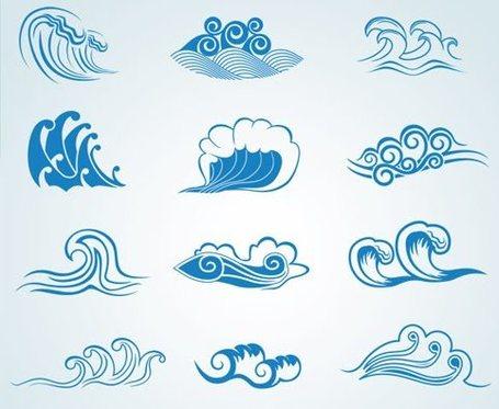 Dibujo de olas del mar  Imagui
