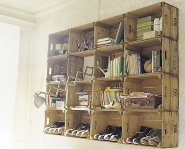 Recycled-Wooden-Crates-Shelving-System.jpg (445x360 pixels) | House refurbishment | Scoop.it