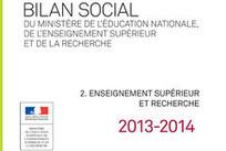 Bilan social 2013-2014 : partie 2. L'enseignement supérieur et la recherche - ESR : enseignementsup-recherche.gouv.fr   Enseignement Supérieur et Recherche en France   Scoop.it