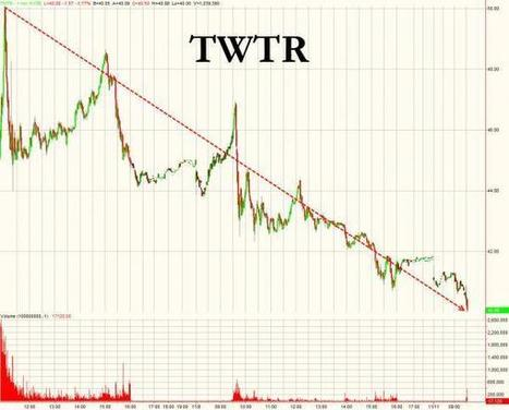 TWTR Enters Bear Market With 3 Handle on 3rd Day Of Trading | Zero Hedge | Commodities, Resource and Freedom | Scoop.it