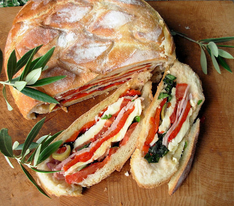 Pan Bagnat ~ A French Picnic Sandwich for a Summer's Day Picnic at the Bottom of the Garden! #Cooking #Recipes | Restaurant & Event Management | Scoop.it