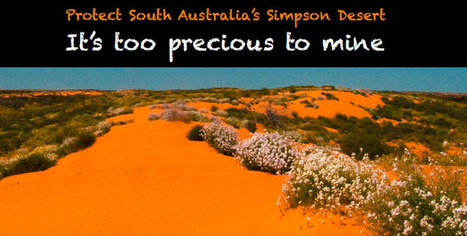 Simpson Desert - too precious to mine - The Wilderness Society | Australian environment | Scoop.it