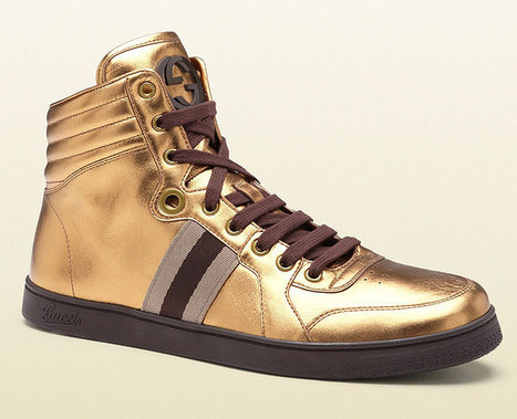 Gucci Mens Shoes Metallic Gold Sneakers | Designer Mens Shoes | Scoop.it