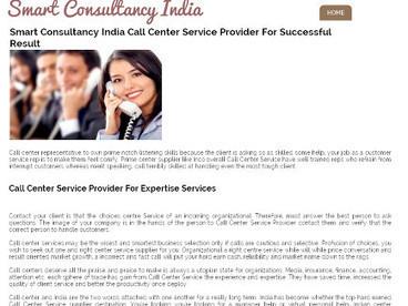 Smart Consultancy India Call Center Service Provider For Successful Result   smart consultancy india   Scoop.it