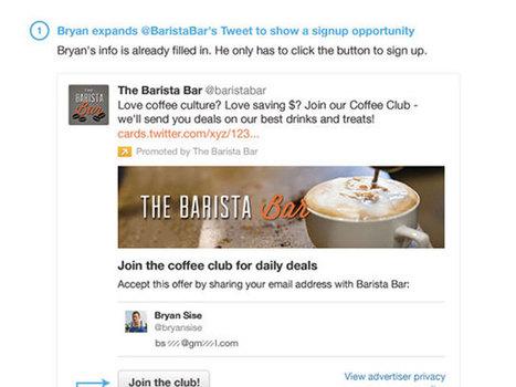 Twitter : lancement à venir de la «Lead Generation Card», pour les marques et les marketeux | Geeks | Scoop.it