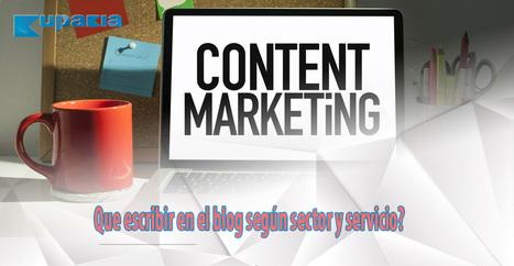 Infográfia: Que escribir en el blog según sector y servicio? | Educacion, ecologia y TIC | Scoop.it