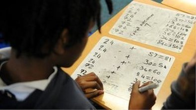 "Introduce basic algebra at seven, argues study - BBC News | ""Algebra in middle school"" 