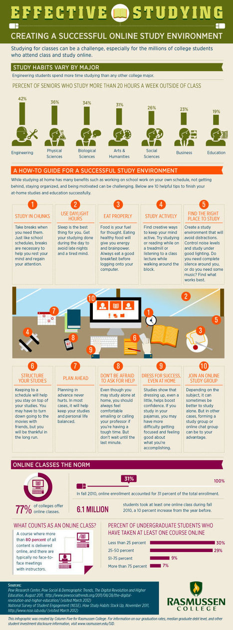 How to Create a Successful Online Study Environment Infographic | Ciencias | Scoop.it