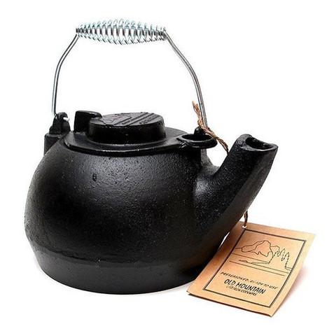 Old Mountain Cast Iron Natural Cookware Pre-seasoned Tea Kettle | homeschooling | Scoop.it