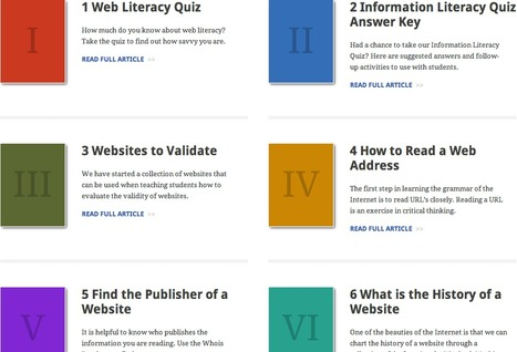Web Literacy Education for Educators | Skolbiblioteket och lärande | Scoop.it