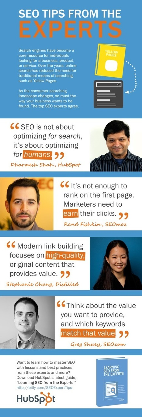 SEO Tips From Industry Experts: An Infographic And Ebook - SEO.com | SEO - SEM | Scoop.it